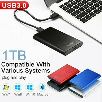 1TB USB 3.0 External Hard Drive Disks HDD 2.5'' Fit For PC Laptop Portable UK • 24.89£