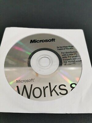 Microsoft Works 8 CD Only Sealed With Serial • 4.99£