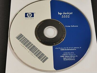 HP Hewlett Packard Deskjet 5552 Printer Software 2002 Windows & Mac • 3.95£
