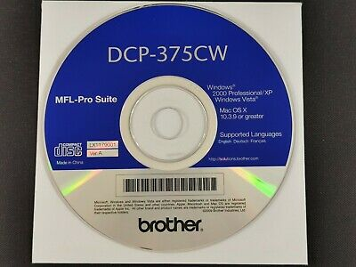 Brother DCP-375CW MFL-Pro Suite Software For Windows & Mac • 3.95£