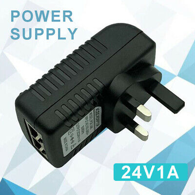 24V 1A POE Power Supply PoE Injector Adapter Wall Power Over Ethernet UK Plug Ls • 6.89£