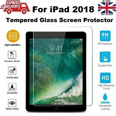 HD Clear Tempered Glass Screen Protector For New IPad 6th Generation 9.7 2018 • 3.90£