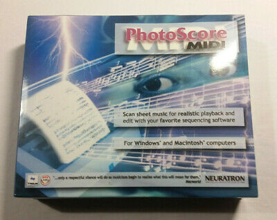 Photoscore MIDI By Neuratron. Looks Sealed. Music Software For PC/Mac • 10£