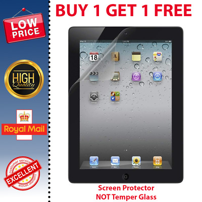 New Clear Screen Cover Protector For Apple Ipad 2 3 And 4  • 1.20£