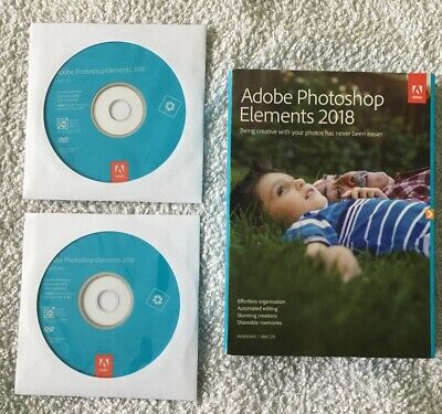 photoshop Elements 2018 -- Used Condition - Retail Box-windows And Mac • 25£