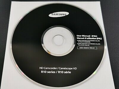 Official Samsung R10 Camcorder User Manual CD Disk • 3.99£