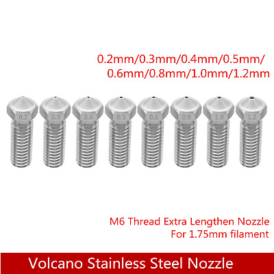 Top Quality Hardened Steel Volcano Nozzle For High Temperature 3D Printing E3D • 6.99£