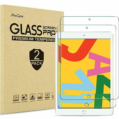 2 Pack Tempered Glass Screen Protector For Apple IPad 10.2 (2019) 7th Generation • 5.75£