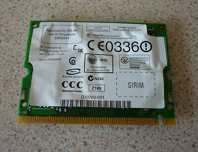 Dell Inspiron 6000 Wifi Wireless Card P/N OW9764 • 3£