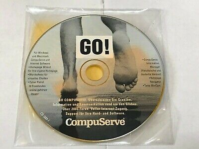 Compuserve Go! For Windows 3.11 / 95 / Nt German / French Netscape / Wincom • 4.49£