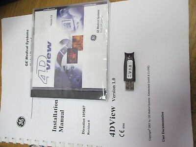 GE Medical Kretz 4d View V1 With Hasp Dongle Sealed   New Old Stock  • 23.19£