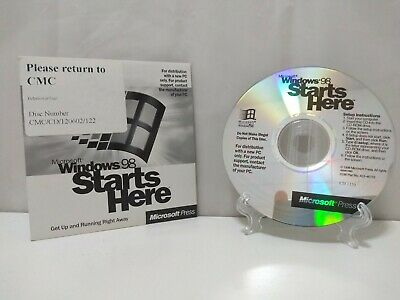 Microsoft Windows 98 Starts Here - Vintage Computer PC Software  • 4.99£
