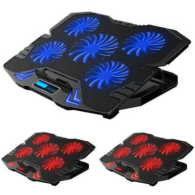 Gaming Laptop Cooler Notebook Cooling Pad Mat Adjustable Stand 5 Fans Portable • 25.26£