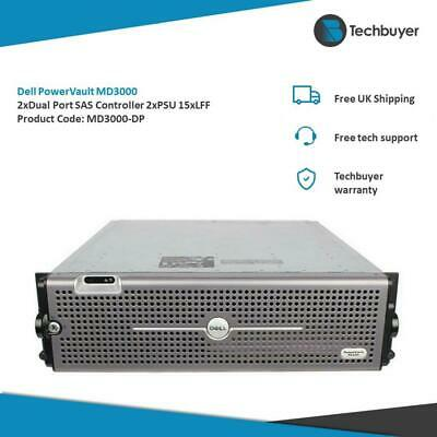 Dell PowerVault MD3000 Chassis With 2*DUAL PORT SAS CONTROLLERS 2*PSU - MD3000 • 180£