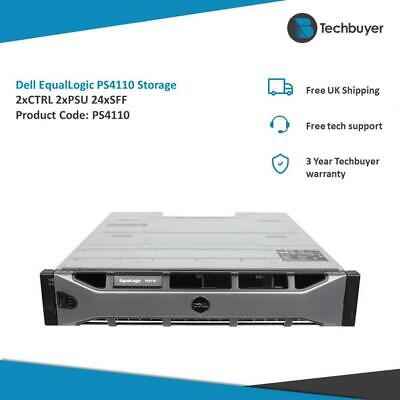 Dell Equallogic Ps4110 2 X Type 17 Controller 2 X Psu 24 X Sff Drive Bays • 900£