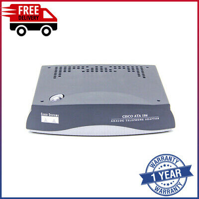 ⚡ Cisco ATA 186 Analog Telephone Adaptor SCCP • 19.99£