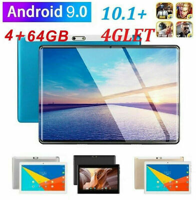 10.1  WIFI/4G-LTE 64G Tablet Android 9.0 HD PC Bluetooth SIM GPS Dual Camera • 64.99£