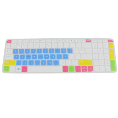 Silicone Keyboard Protector Cover For HP Pavilion 15'' Laptop White Blue • 3.04£