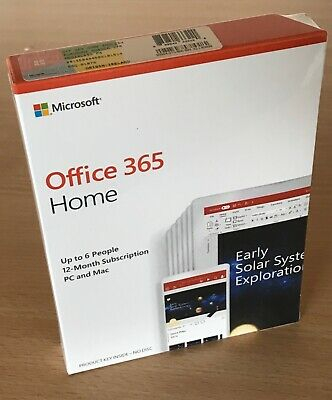 Genuine Retail Packaged Microsoft Office 365 Home Software License • 54.99£