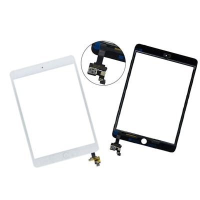 For IPad Mini 1/2 Replacment Touch Digitizer Screen Glass+ IC Home Button • 8.99£