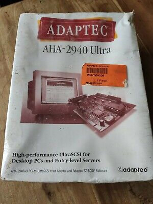 Adaptec AHA-2940 Ultra SCSI Host Adapter Controller Card Brand New Sealed Box  • 32£