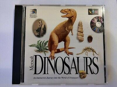 Microsoft Dinosaurs - An Interactive Journey PC CD-Rom From 1993 • 4.99£