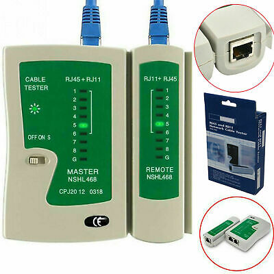 RJ45 Network Cable Tester CAT5e CAT6 RJ11 Ethernet LAN PC Wire Lead Testing Tool • 4.95£
