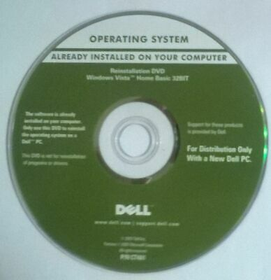 Dell Windows Vista Reinstallation Disc Only. • 2.99£