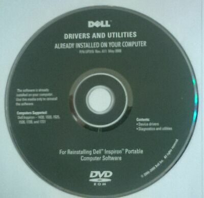 Dell Drivers And Utilities Disc • 2.99£