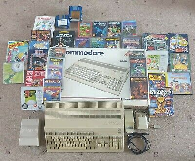 Commodore Amiga 500 With A520 Modulator Plus Huge Games Bundle - Tested  • 92£
