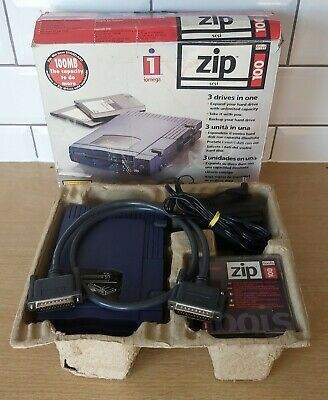 Iomega Parallel Zip Drive 100, SCSI, Boxed With Cables, External  • 39.99£
