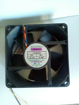 Mechatronics 24v DC Fan Sq. 120 X 38 Mm G1238E24B2 158 Cfm UL94V-0 Rated UNUSED • 9.95£