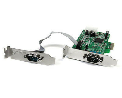StarTech 2 Port Low Profile Native RS232 PCI Express Serial Card With 16550 • 19£