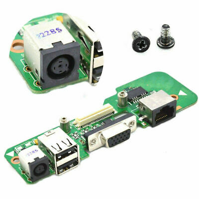 ROUND DC BOARD 08530-2 48.4AQ03.C11 Power Jack + 2 Screws For DELL Inspiron 1545 • 8.49£