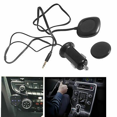 Car Bluetooth Handfree Audio Music Receiver Stereo 3.5mm AUX Adapter USB Charger • 7.99£