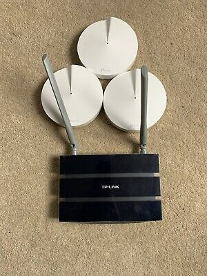 TP Link Deco M5 Mesh X 3 AC1300 Whole Home Wi-fi System And Ac1200 Router • 74£