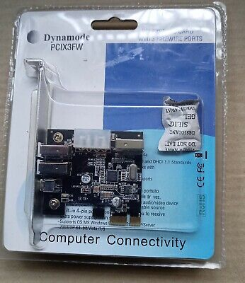 Dynamode PCIX3FW PCI Express Card With 3 Firewire Ports • 12.50£