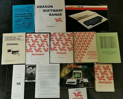 Small Collection Of Vintage Dragon 32 / 64 Booklets, Game, Etc • 5£