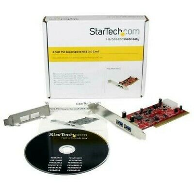 StarTech 2 Port PCI SuperSpeed USB 3.0 Adapter Card • 12.99£
