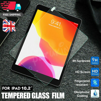 2020 New Apple IPad 10.2  8th Generation Tempered Glass Film Screen Protector UK • 3.80£