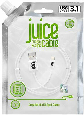 Genuine Juice 1.5m USB-C Data Fast Galaxy Note10+/S20/S10/S9 Charge Sync Cable • 7.99£