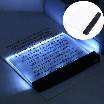 Creative Flat Plate LED Reading Night Light Portable Desk Lamp Eye Protect Z • 6.66£