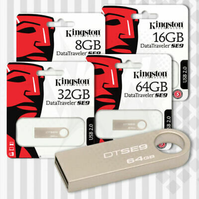NEW Kingston Data Traveler SE9 G2 USB 3.0 Flash Drive Memory Stick16,32,64,128gb • 13.99£