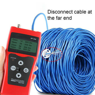 LN_ LCD RJ11 RJ45 LAN Ethernet Network Cable Wire Fault Locator Tester Finder  • 40.88£