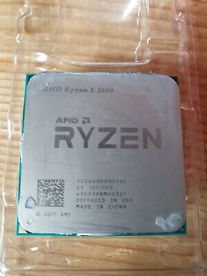 Used AMD Ryzen 5 2600 AM4 Processor With NEW Wraith Stealth Cooler • 67£