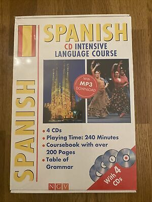 Learn Spanish Course On CD With Cousebook - Still Sealed • 14.50£