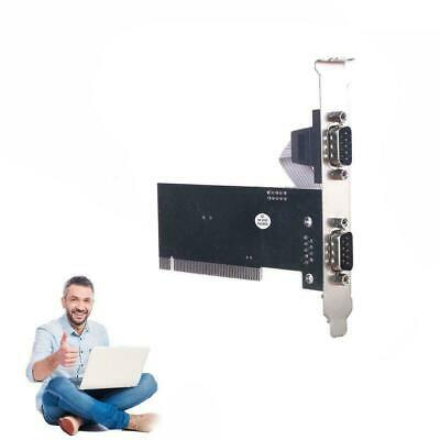Dual Two 2 Rs232 9 Pin Ports Serial Pci Expansion Card Q D 7 For Windows Xp G0N3 • 4.47£
