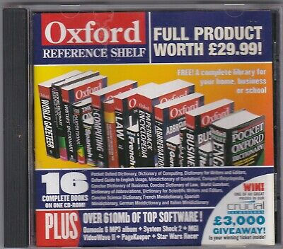 Oxford Reference Shelf. Dictionaries Etc. Computer Shopper  Cover Disk • 2.80£