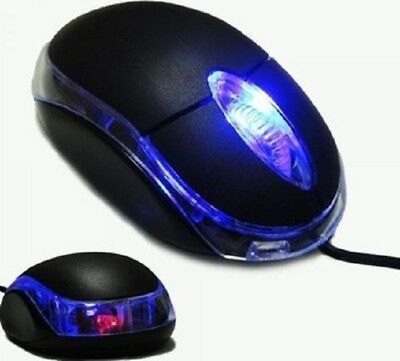 USB Optical Wired Mouse For PC Laptop Computer Scroll Wheel  Black • 3.99£