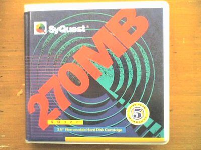 SYQUEST 270Mb Disk - 1 Pack (1 Disk) - PC Formatted - USED - TESTED - GC.. • 10£